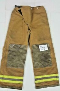 30x30 Globe Brown Pants Firefighter Turnout Bunker Fire Gear No Liner Pnl 8