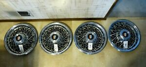 Buick 15 Rwd Wire Wheel Covers Set Of 4 Excellent Driver Condition Clean
