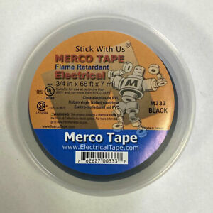 Merco M333 Electrical Tape 3 4in X 66ft Canister All Weather temp Black