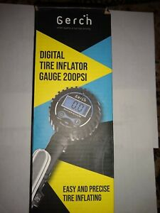 Gerch Air Tire Inflator With Digital Pressure Gauge 200psi