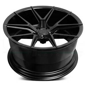 19x8 5 Satin Black Wheels Verde V99 Axis 5x114 3 38 Set Of 4