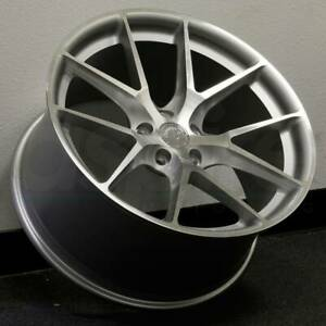 20x9 20x10 5 Silver Machined Face Wheels Aodhan Ls007 Ls7 5x114 3 30 35 Set Of