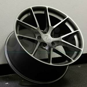19x8 5 Matte Gun Metal Wheels Aodhan Ls007 Ls7 5x114 3 35 Set Of 4