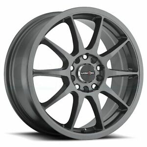 16x7 Gunmetal Wheels Vision 425 Bane 5x114 3 5x120 38 Set Of 4
