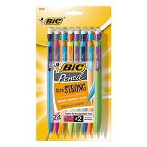 Bic Mechanical Pencils W Colorful Barrels Assorted 24 pack bicmplwp241