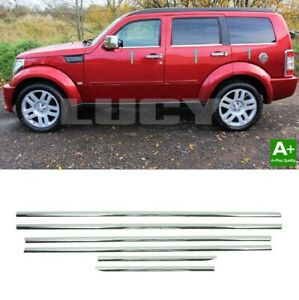 For Dodge Nitro Chrome Window Frame Trim Strips 6 Pcs 2006 Up S Steel