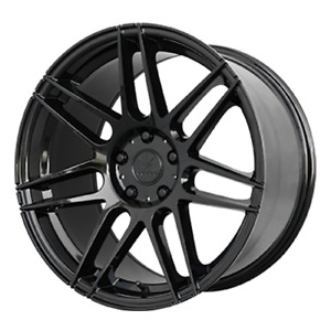 19x9 19x10 Gloss Black Wheels Verde V21 Reflex 5x108 38 45 Set Of 4