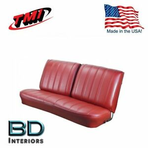 1966 Chevy El Camino Front Bench Seat Upholstery Red Made In Usa By Tmi