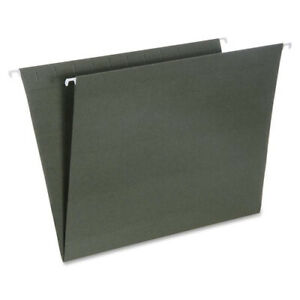 Skilcraft Hanging File Folders Letter 1 3 Cut Green 25 Folders nsn3649497