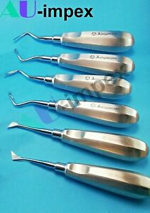 6 Pics Dental Surgery Extracting Luxating Apical Root Tip Elevator Cryer Curve