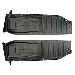 Floor Pan Half With Seat Track For 52 72 Vw Beetle Pair