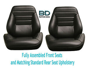 1965 Chevelle Touring Ii Front Bucket Seats Assembled Std Rear Seat Upholstery