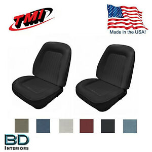 Sport Bucket Seat Upholstery 1967 To 1968 Camaro Front Any Color Plus Foam Usa