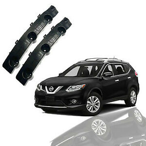 For 2014 2015 2016 Nissan Rogue Front Bumper Brackets Retainers Left Right 2pc
