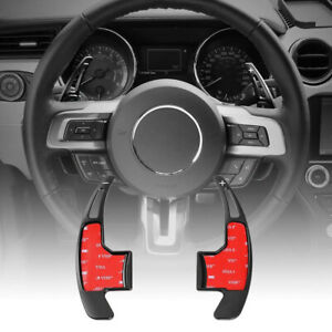 Aluminum Steering Wheel Shift Paddle Shifter Extension For 2015 Ford Mustang