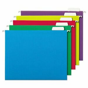 Universal Hanging File Folders 1 5 Tab Letter Assorted 25 Folders unv14121