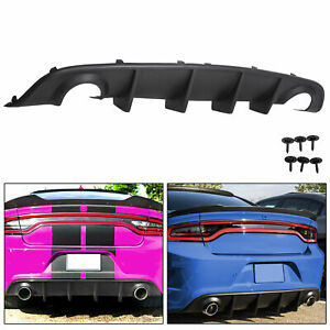 Fits 15 20 Dodge Charger Srt Factory Style Rear Diffuser Bumper Lower Valance Pp