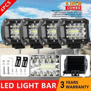 4pcs 4 Cree Combo Led Work Light Bar Pods Suv 4wd Offroad Driving Fog Lamps