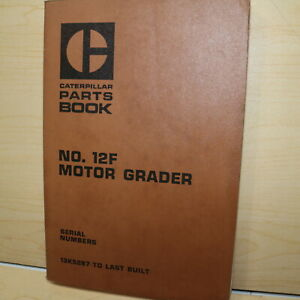 Cat Caterpillar 12f Motor Road Grader Parts Manual Book 13k 33k Series Catalog