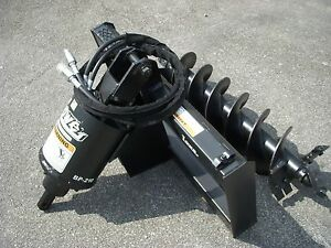 Lowe Bp 210 Hex Auger Drive With 12 Auger Bit Fits Skid Steer Loader Planetary