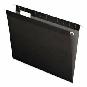 Pendaflex Reinforced Hanging File Folders Letter Black 25 box pfx415215bla
