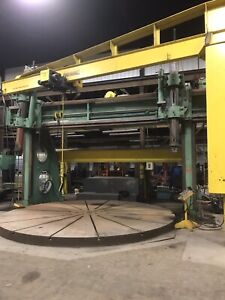 Birdsboro Vertical Boring Extension Mill 18 24 With 16 Turn Table
