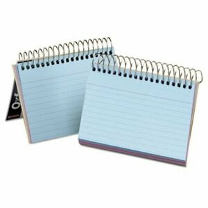Oxford Spiral Index Cards 3 X 5 50 Cards Assorted Colors oxf40285