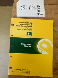 John Deere 7200 Drawn Conservation Planter Owner Operator Manual Oma52755 Nos