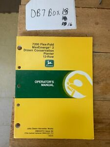 John Deere 7200 Drawn Conservation Planter Owner Operator Manual Oma52751 Nos