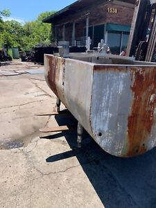 Stainless Steel Tub tank For Acid Dipping Used Acceptable