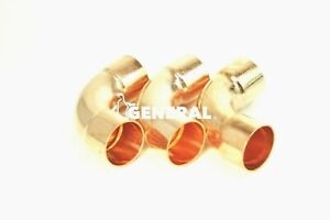 Copper Elbow 90 Deg 1 3 8 Id Long Radius For A c Refrigeration Lines 3 Pcs