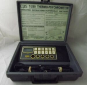 Cps Temp seeker T 250 Thermo psychrometer Thermometer In Hard Case Works Great