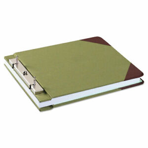Canvas Sectional Storage Post Binder 2 Posts 3 Capacity 8 5 X 11 Green