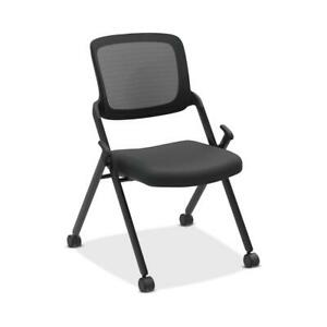 Hon Assemble Mesh Back Nesting Chair Armless Stacking Chairs Pack Of 2