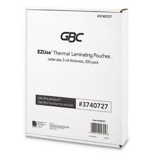 Ezuse Thermal Laminating Pouches 5 Mil 8 5 X 11 Gloss Clear 200 pack