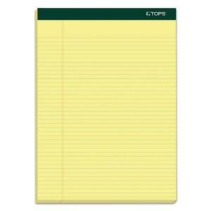 Double Docket Ruled Pads Narrow Rule 8 5 X 11 75 Canary 100 Sheets 6 pack