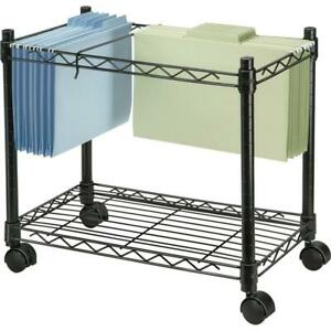 Fellowes High capacity Rolling File Cart 4 Casters Metal Steel 24