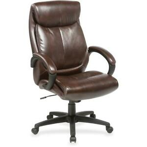 Lorell Executive Chair Brown Seat Brown Back 28 Width X 31 8 Depth X
