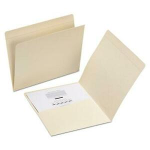 Top Tab File Folders With Inside Pocket Straight Tab Letter Size Manila