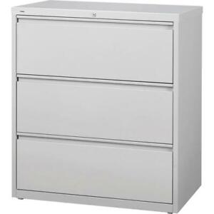 Lorell 3 drawer Light Gray Lateral Files 36 X 18 6 X 40 3 3 X