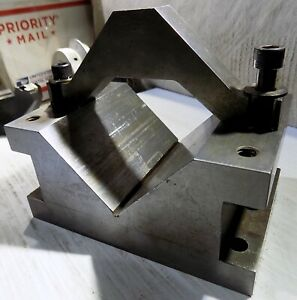 Hardened Steel Vee Block V block Workholding Fixture With Clamp Price Is For 1