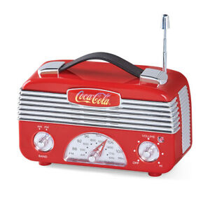 Coca Cola Vintage AM/FM Radio - Tabletop Decor for Any Room in Home