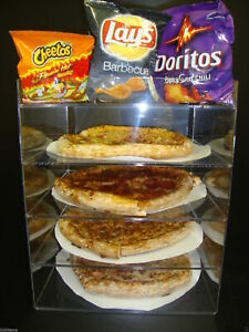 Displays2buy 12 Pizza Showcase Retail Store Acrylic Display Cases