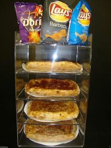 Displays2buy 8 Pizza Showcase Retail Store Acrylic Display Cases