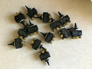 Lot Of Carling Model 9827 Dp Dt Momentary Toggle Switch