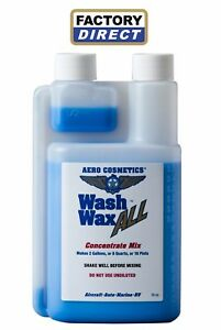 Waterless Car Wash Wax All Concentrate 16oz Makes 2 Gallon By Aero Cosmetics