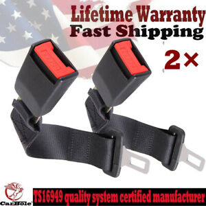 2 Buckle Car Seat 14 Safety Extender Belt Extension For Ford Chevy Jeep Dodge
