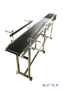 Techtongda 82 6 110v Pvc Conveyor With Double Guardrails Stainless Steel