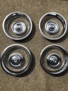 Set Factory Original Gm Trim Rings Caps Fits 67 Corvette 69 Camaro Z28 15x6
