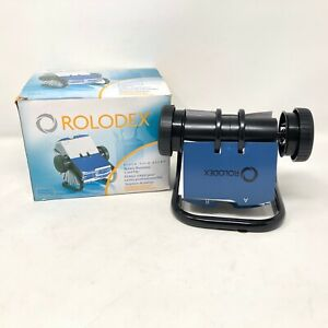 Nib Rolodex Open Rotary Business Card File 400 Card Office Home 67236 Black